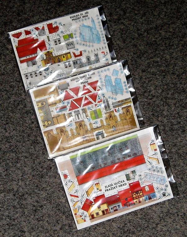 353c52e80f Vystřihovací pohlednice Prahy (sada A - mix